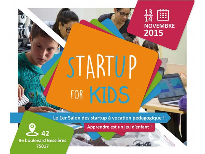 "Rendez-vous au premier salon ""Startup for kids"" !"